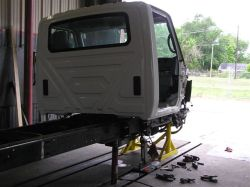 Alignment of damaged truck frames is our business.