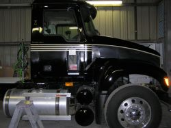 Truck in early stages of Multiple Stripe Layout