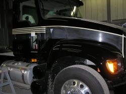 We pay attention to detail. We clean and prep your truck before stripes are installed.